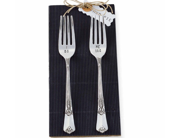 "I Do & ""Me Too"" Wedding Fork Set (2 Pieces)"