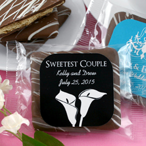Personalized Chocolate Graham Cracker (Many Designs Available) | My Wedding Favors