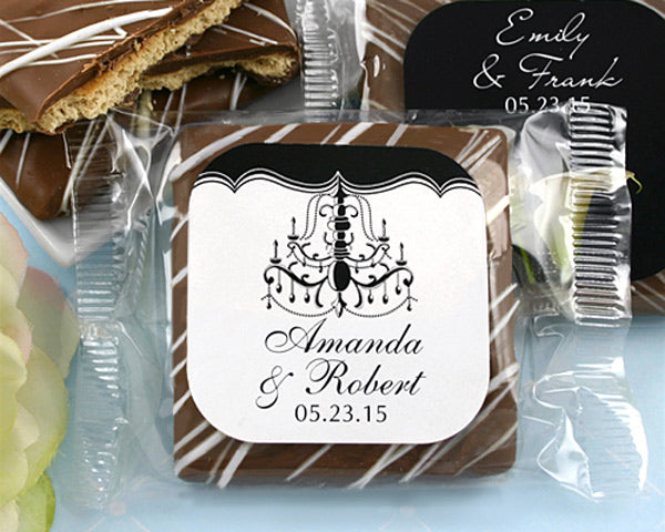 Personalized Chocolate Graham Cracker Favors (Many Designs Available) | My Wedding Favors