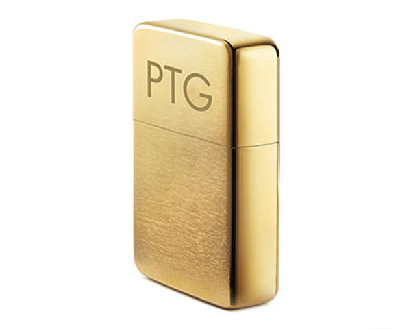 Personalized Brushed Gold Lighter