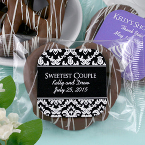 Personalized Gourmet Chocolate Pretzel (Many Designs Available) | My Wedding Favors