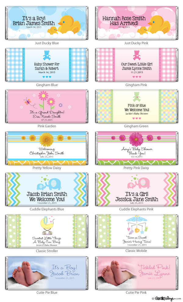 Load image into Gallery viewer, Personalized Baby Shower Hershey's Chocolate Bars