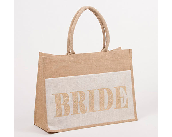 Bride Jute Pocket Tote (Personalization Available)