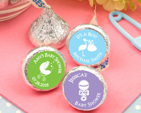 Personalized Colored Foil Hershey's Kisses - Silhouette Collection