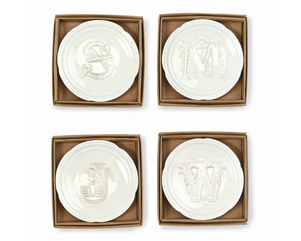 Load image into Gallery viewer, Initial Monogram Trinket Dish