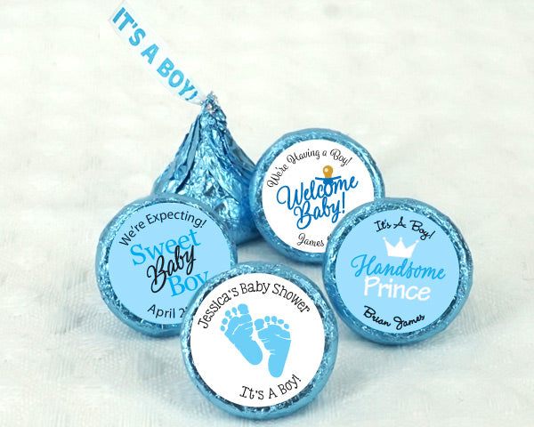"Personalized ""It's A Boy"" Plume Hershey's Kisses 