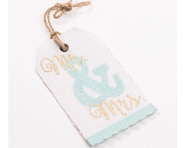 Mr & Mrs Something Blue Jute Gift Tag
