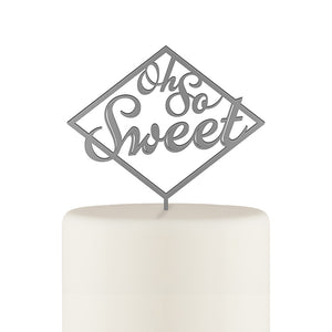 Oh So Sweet Acrylic Cake Topper