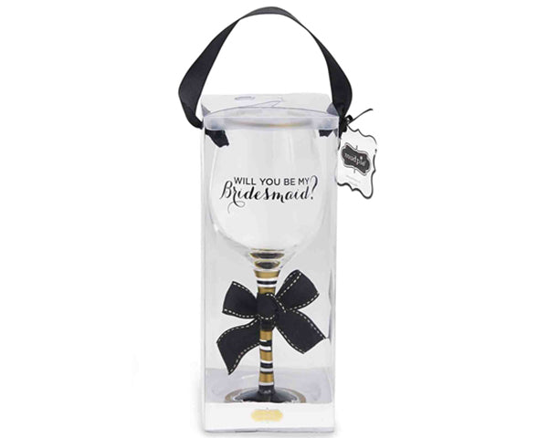 Pop The Question Wine Glass