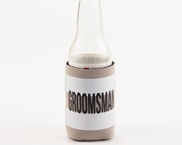 Groomsman Striped Drink Sleeve
