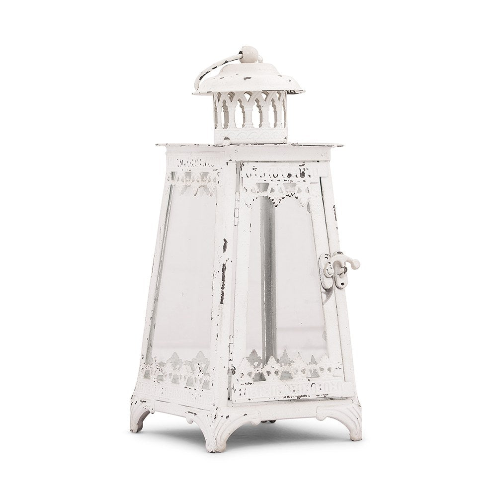 Enchanted Metal & Glass Pyramid Lantern