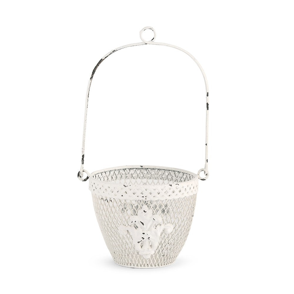 Farmhouse Chic Metal Flower Basket