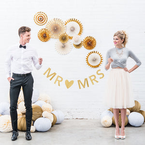Load image into Gallery viewer, Customizable Gold Glitter Wedding Banner