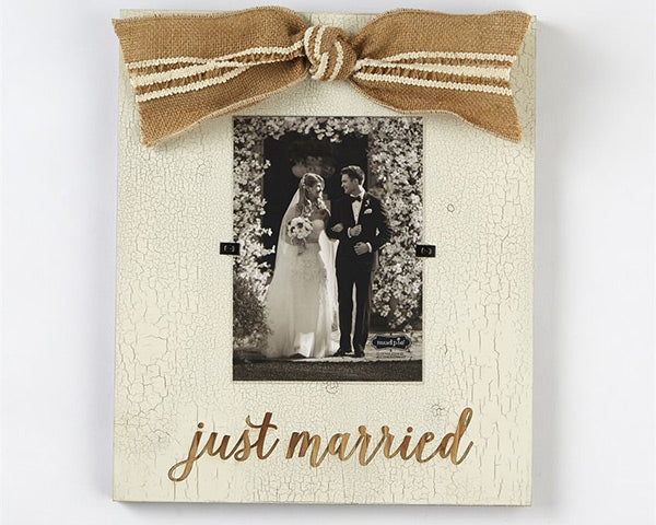 Just Married Wood 5x7 Frame