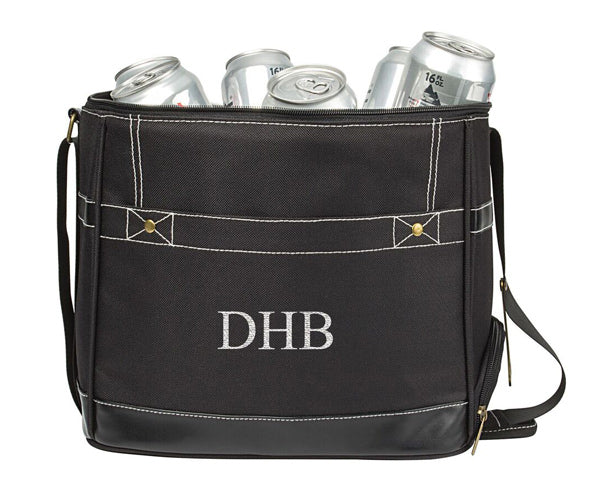 Personalized Black Can Dispenser Cooler
