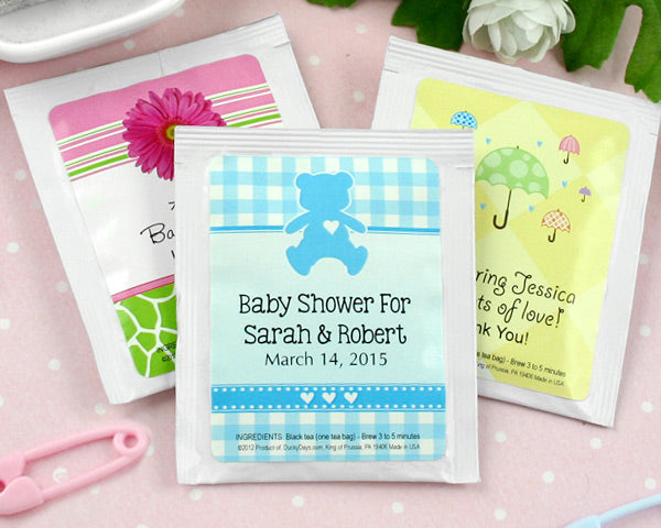 Personalized Baby Tea Favor (Many Designs Available) | My Wedding Favors