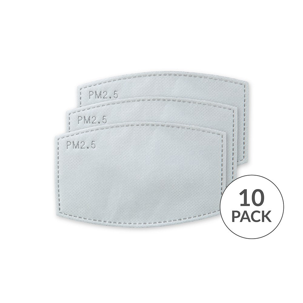 Adult PM 2.5 Protective Mask Filters (Set of 10)