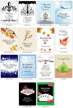 Personalized Wine Bottle Labels (Set of 6) (Many Designs Available)