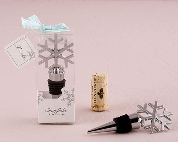 Load image into Gallery viewer, Snowflake Bottle Stopper | Winter Wedding Favors | My Wedding Favors