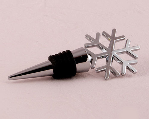 Snowflake Bottle Stopper | Winter Wedding Favors