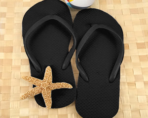 Wedding Flip Flops (Black or White Available) | 6 Pairs