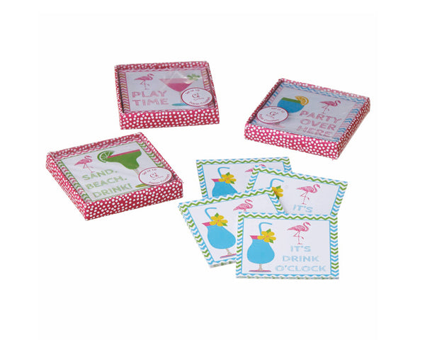 Cocktail Time Paper Coaster - 10 Piece Set