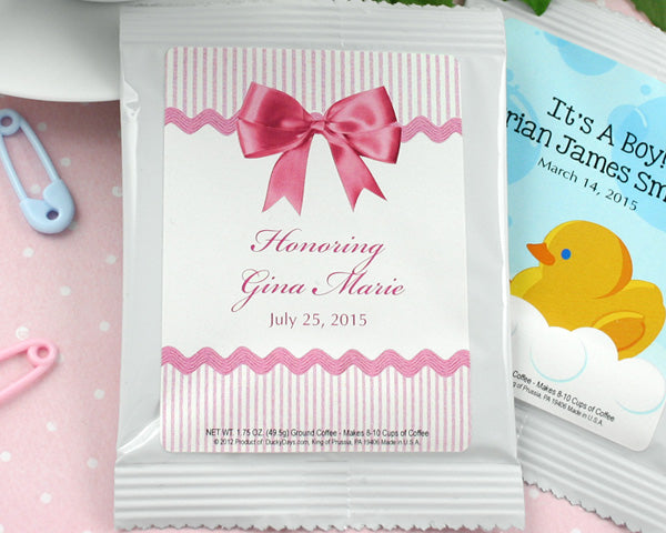 Personalized Baby Shower Coffee Favors (Many Designs Available)