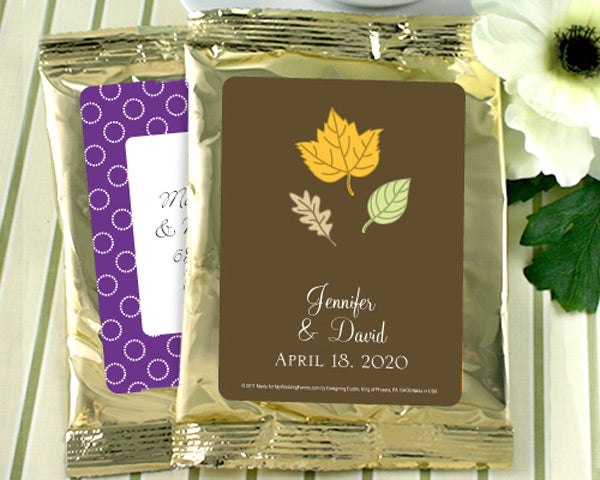 Gold Personalized Coffee Favors - Exclusive Designs