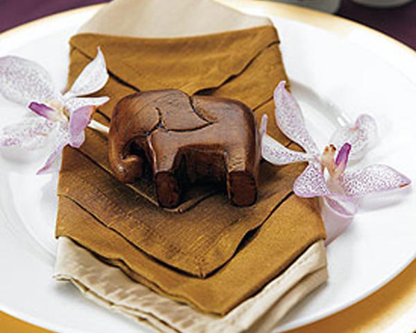 Good Luck Miniature Wooden Elephants (Set of Four)