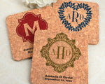 Monogrammed Cork Coasters (Square & Circle)