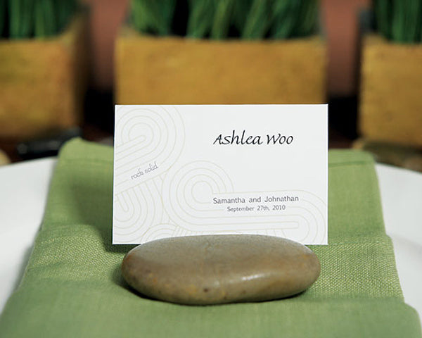 Natural Rocks Place Card Holders (Set of 8)