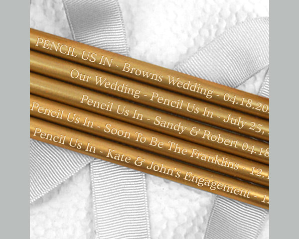 Personalized Pencils (Black, White, Silver or Gold) (Set of 12)