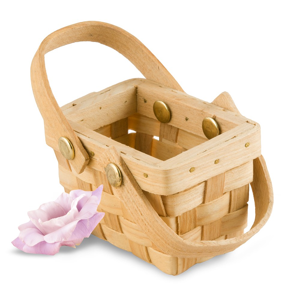 Miniature Woven Picnic Basket (Set of 6)
