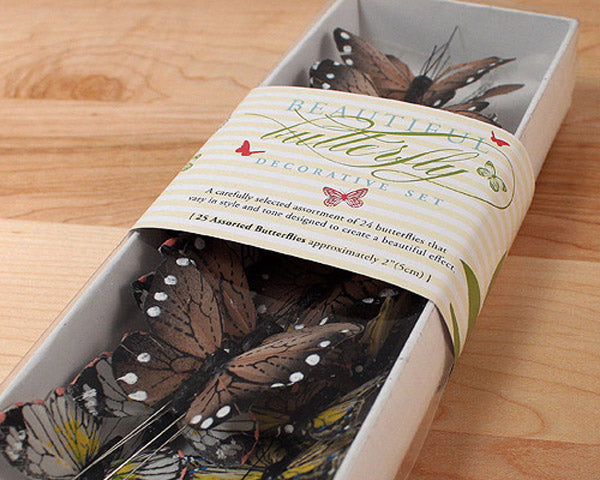 Beautiful Butterfly Cake Sets (Set of 25)
