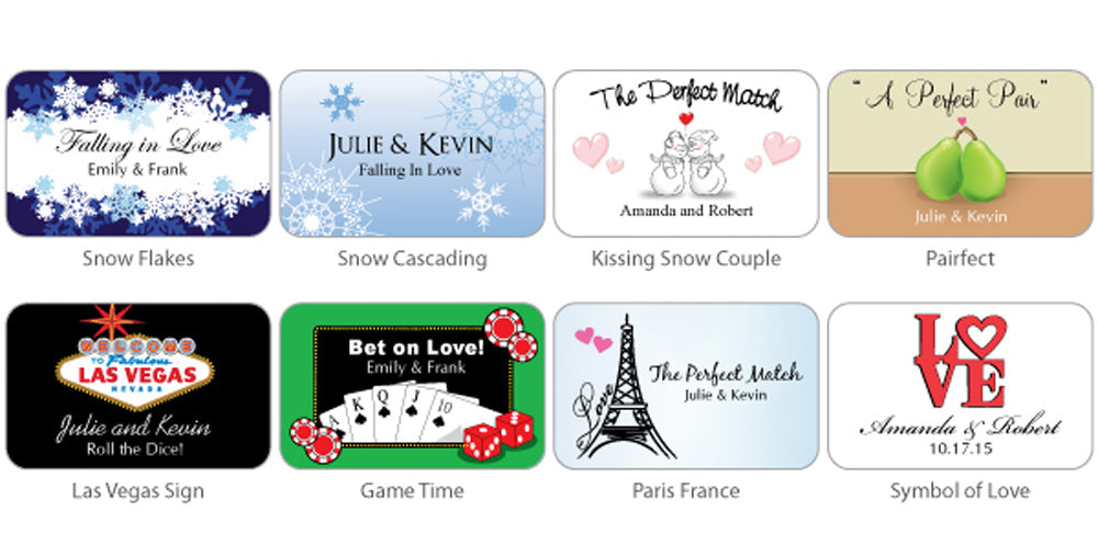 White Personalized Matches (Set of 50) (Many Designs Available)