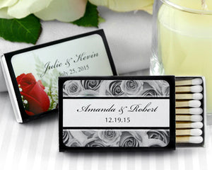 Black Personalized Matches (Set of 50) (Many Designs Available)