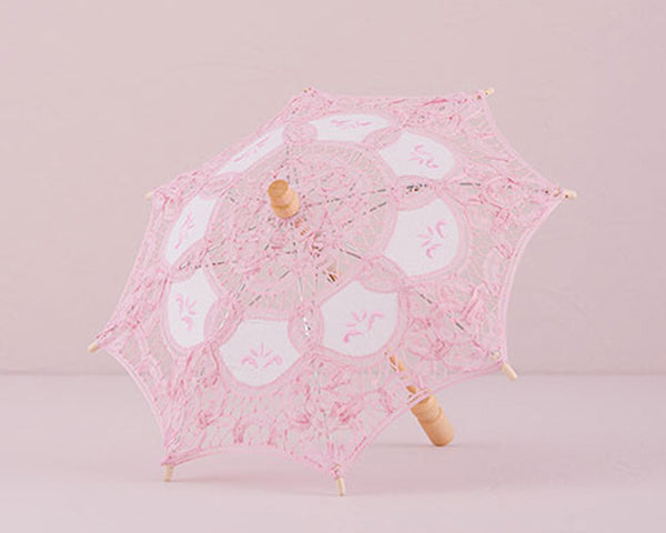 Vintage Battenburg Small Lace Parasol