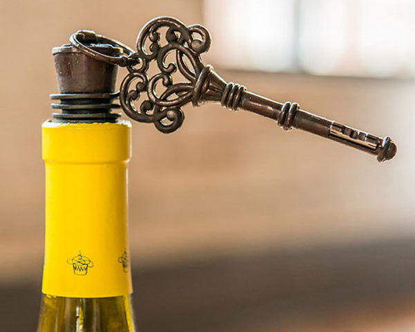 Vintage Key Ornamental Bottle Stopper (Set of 4)
