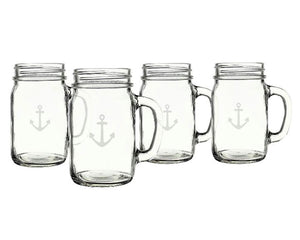 Load image into Gallery viewer, Old Fashioned 16 oz. Anchor Drinking Jars (Set of 4)
