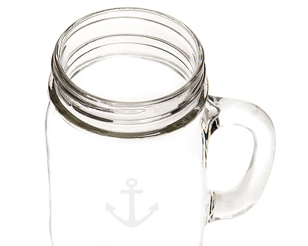 Old Fashioned 16 oz. Anchor Drinking Jars (Set of 4)