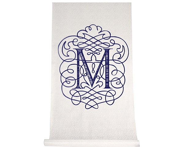 Personalized Flourish Design Aisle Runner