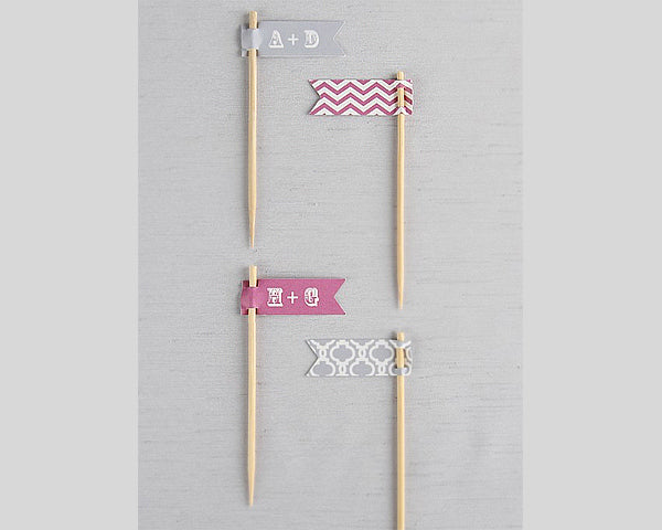 Small Personalized Flag Toothpicks (Set of 18) (Multiple Colors and Patterns)