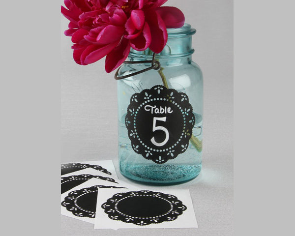 Round Doily Chalkboard Stickers (Set of 5)