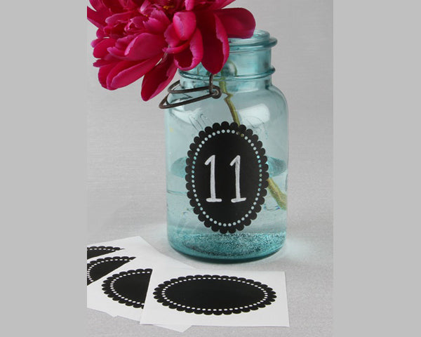 Scallop Oval Chalkboard Stickers (Set of 5)