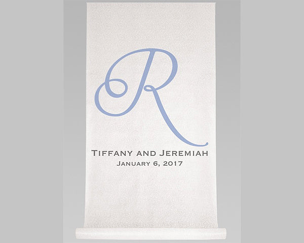 Personalized Single Initial, Names & Date Aisle Runner