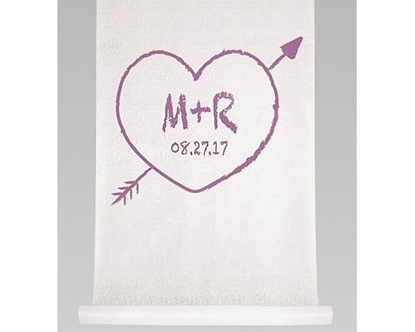 Personalized Heart & Arrow Aisle Runner
