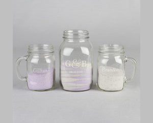 Personalized Names & Date Mugs Sand Ceremony