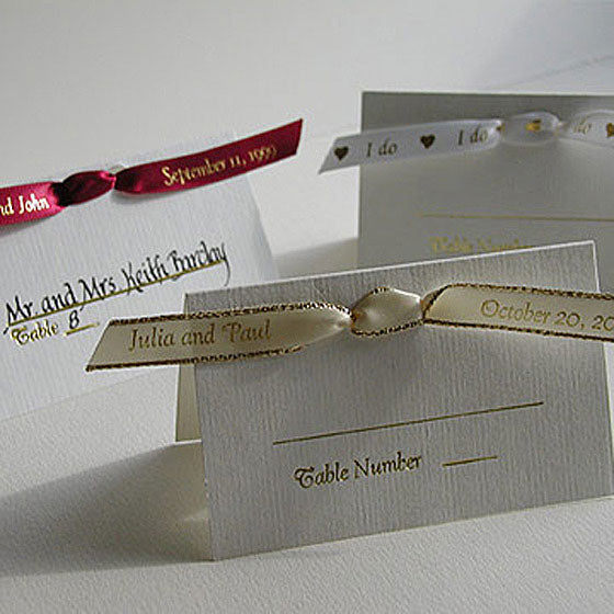 Seating Card with Personalized Ribbon