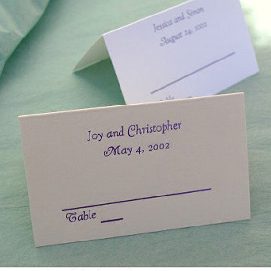 Personalized Tent Seating Cards