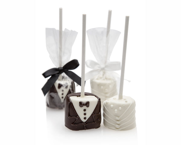 Bride & Groom Marshmallow Pops